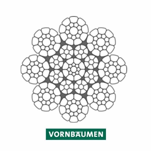 """Alpin-Traktionswindenseil """"VS 8-4 C"""" - powered by VORNBÄUMEN"""