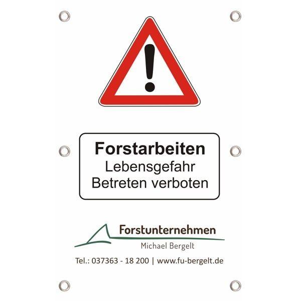 Forst-Absperrbanner V6 - Forstarbeiten