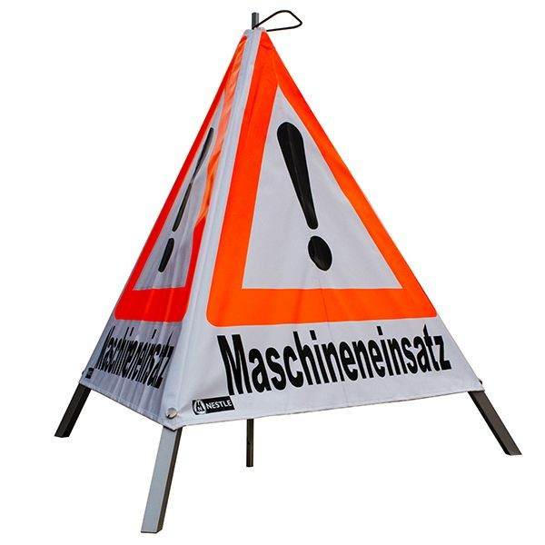 "Forst Warnpyramide / Faltsignal ""Maschineneinsatz"""