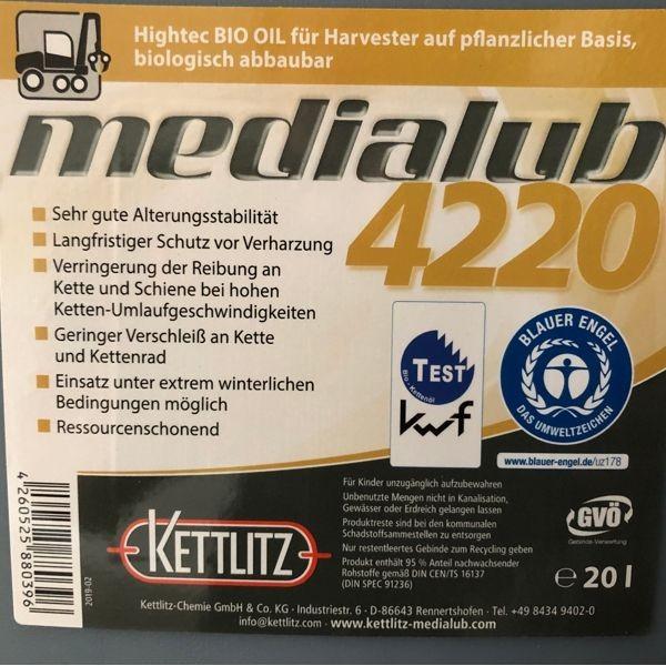 Kettlitz Medialub 4220 BIO-Harvesteröl