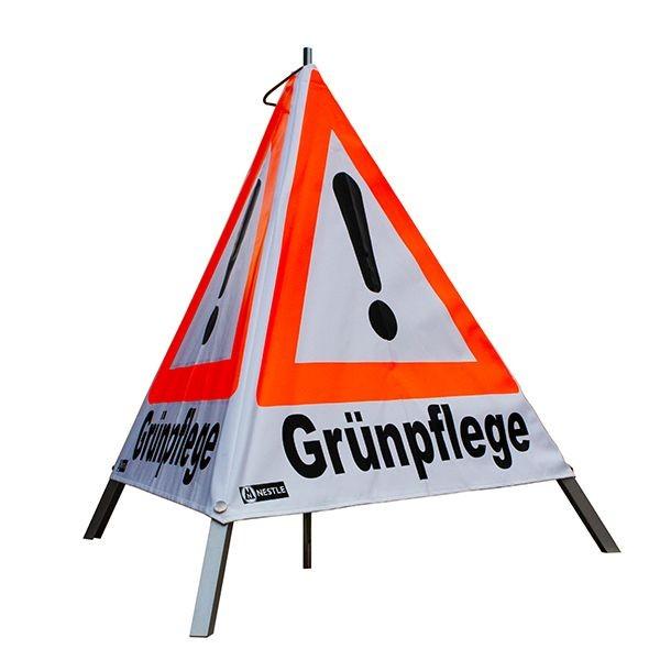 "Forst Warnpyramide / Faltsignal ""Grünpflege"""