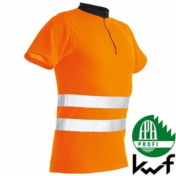 Pfanner Zipp-Neck Shirt kurzarm - EN 20471