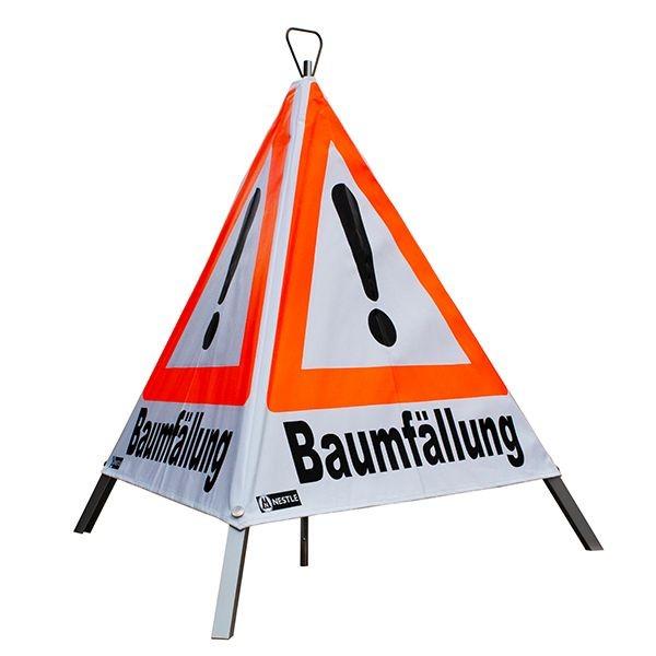 "Forst Warnpyramide / Faltsignal ""Baumfällung"""